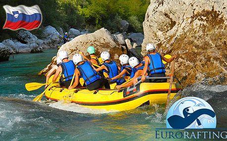 Víkendový rafting ve Slovinsku