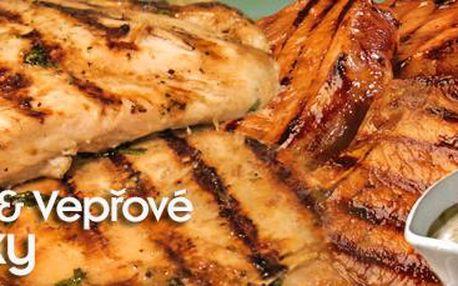 Steakové prkno v restauraci Ekvádor: 640 g šťavnatého masa s přílohami.