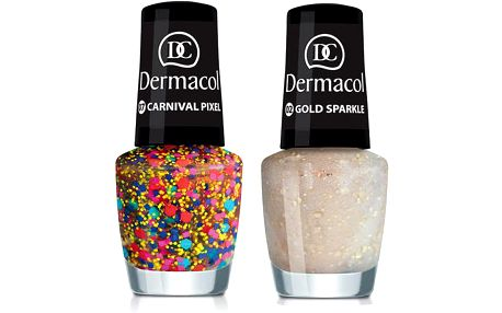 Lak na nehty Dermacol Nail Polish With Effect - Odstín 03 Pink Sparkle