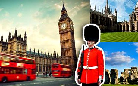 Londýn, Oxford, Windsor, Stonehenge: 4 nebo 5 dní pro 1 s ubytováním a snídaní.