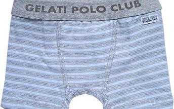 Chlapecké pruhované boxerky s nápisem, šedé