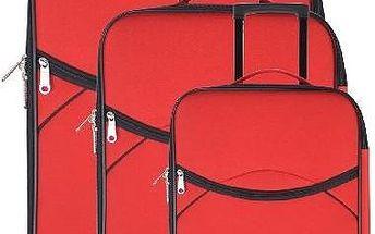 Set 3 cestovních kufrů Classic Red