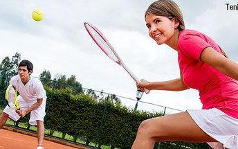 Dvě hodiny tenisu pro dvě až čtyři osoby