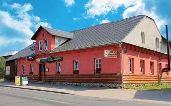 5denní pobyt v hotelu Pod Jedlovým vrchem v Jeseníkách pro 2 osoby s polopenzí