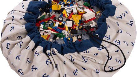 Hrací podložka a pytel na hračky v jednom Play and Go Anchor Blue