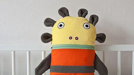 Pyžamožrout, zelený a oranžový, malý
