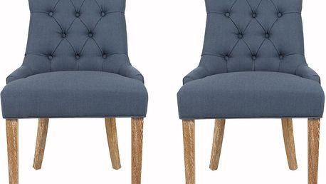 Sada 2 židlí Ashley Blue - doprava zdarma!