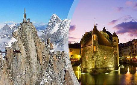 Mont Blanc, Ženeva nebo Annecy