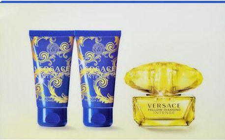 Parfémovaná voda Versace Yellow Diamond Intense Edp 50ml + 50ml sprchový gel + 50ml tělové mléko