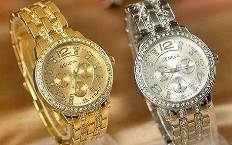 Luxusní dámské hodinky Geneva s krystaly Swarovski