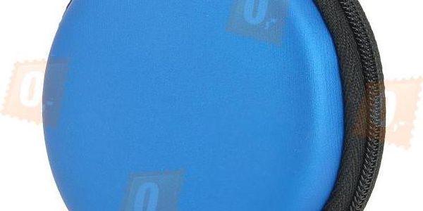 Cestovní pouzdro na sluchátka - modrá barva