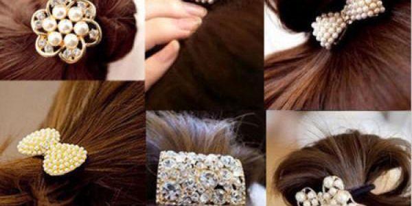 Gumička do vlasů z perel!