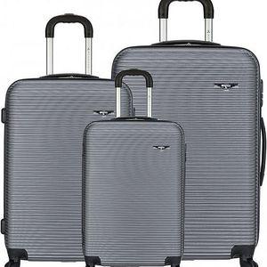 Sirocco Cestovní kufry sada T-1039/3 ABS stříbrná