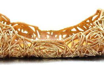 Zlaté gumové baleríny QX-02GO
