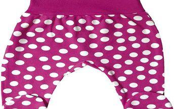 Dívčí puntíkované polodupačky - růžové