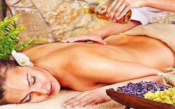 Relaxační aroma masáže