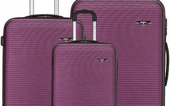 Sirocco Cestovní kufry sada T-1039/3 ABS fialová