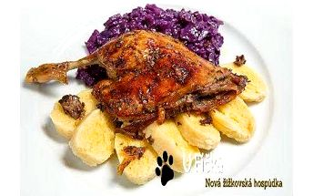 Hospůdka U Fíčků: 2,2 kg pečené kachny a knedlíky