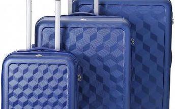 REAbags Cestovní kufry sada AEROLITE T-335/3 ABS, modrá