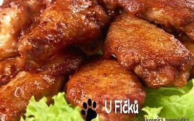 2kilová porce kuřecího a ošatka chleba v Hospůdce U Fíčků