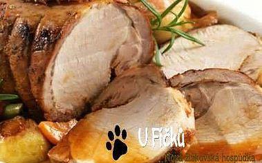Menu pro 4-6 osob: 2 kila pečené krkovice bez kosti a příloha