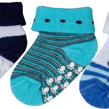 Chlapecká sada ponožek s kočičkou a pejskem (0-6 měsíců) - 3 páry