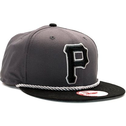 Kšiltovka New Era Ropebreak Pittsburgh Pirates Black/Grey Snapback