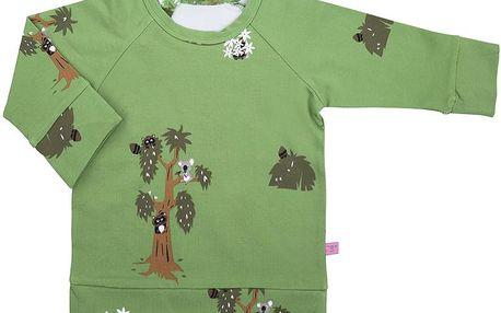 Dětský svetřík s medvídkem koalou - zelený