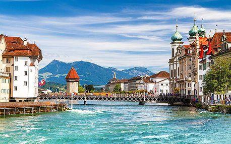 3denní zájezd do Švýcarska s návštěvou Lucernu, Curychu a hory Pilatus pro 1 osobu