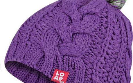 Tradiční fialová čepice Martha s 50 % slevou