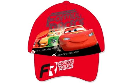 Chlapecká červená kšiltovka Cars