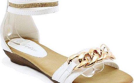 Bílé kotníkové sandálky M147WH 39