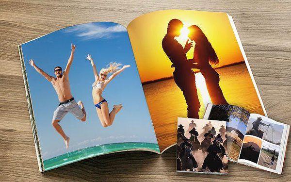 Fotokniha o 40, 60 nebo až 80 stranách s potiskem ve formátu A4