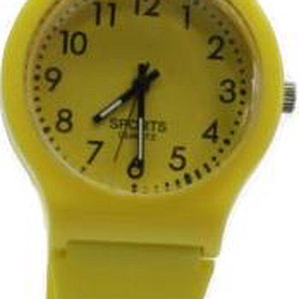 Silikonové hodinky Sporty žluté - doprodej!