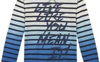 3pommes - Dětské tričko s dlouhým rukávem 104-140cm - tmavomodrá, 140