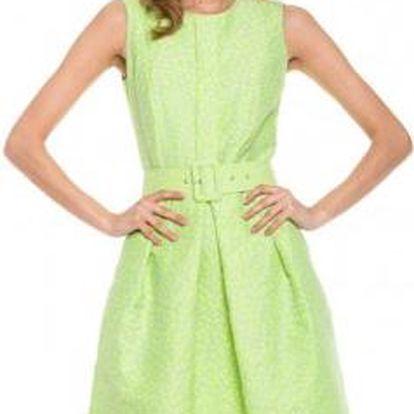 Šaty Simple s ozdobným páskem
