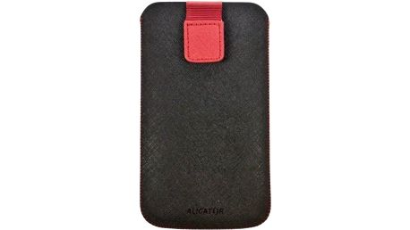 Aligator Fresh pouzdro o velikosti Samsung Galaxy S3 DUO black/red (137x75x10mm)