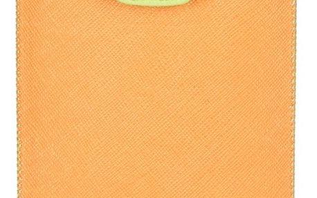 Aligator Fresh pouzdro o velikosti Samsung i9300 Galaxy S3 Duo oranžové/zelené (137x75x10mm)