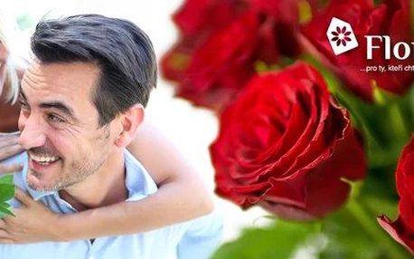 Svazek 10 čerstvých řezaných červených růží
