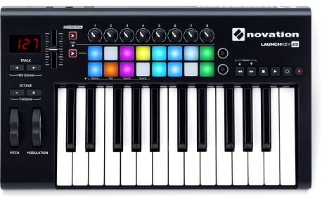 USB / MIDI klaviatura, 25 kláves Novation Launchkey 25 MK2