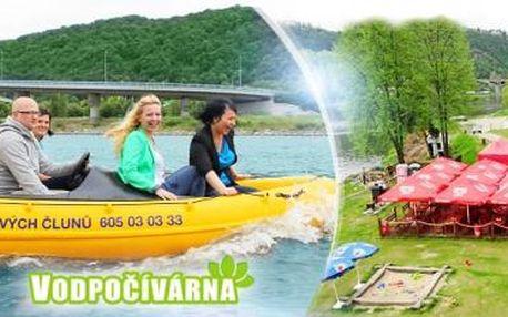 Půjčení MOTOROVÉHO ČLUNU na Vltavě na 60 MINUT až pro 4 OSOBY! Na výběr varianta s MAXI CUBA LIBRE!