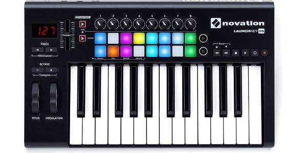 USB / MIDI klaviatura, 25 kláves Novation Launchkey 25 MK2