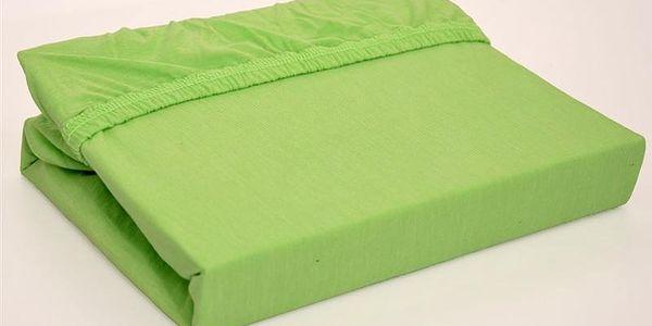 Vesna prostěradlo jersey Standard zelené 90x200 cm