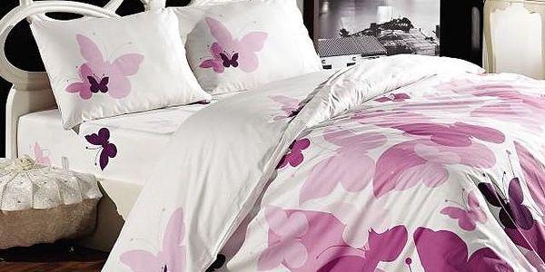 Povlečení Purple Butterfly, 200x220 cm