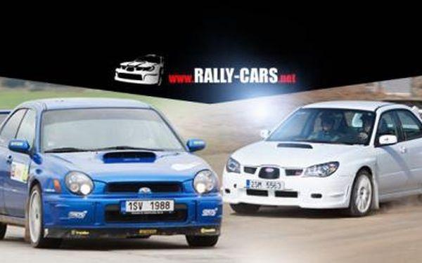 JÍZDA v Subaru Impreza WRX STi pro 1 os.! 2 kola jako spolujezdec, 4 kola jako řidič na asfaltu i drobném štěrku!