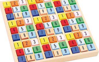 Zábavné dřevěné sudoku, které zaručeně pobaví