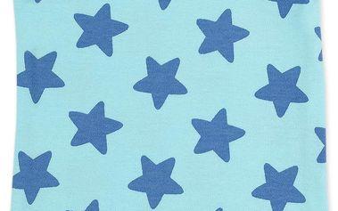 Dětské body s hvězdičkami - světle modré
