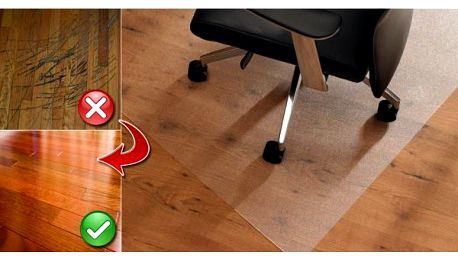Ochranná podložka pod křeslo - už žádná poškrábaná podlaha!