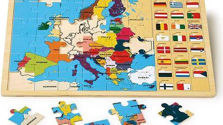Vkládací puzzle - Evropské státy