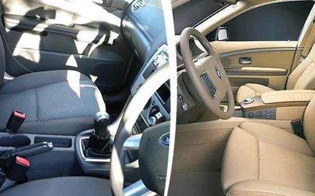 Profesionální čištění interiéru vozidel - 3 varianty
